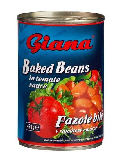 Fazole bílé v rajčatové omáčce 12× 425ml