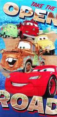 SETINO Plážová Bavlněná osuška chlapecká - McQueen - modrá - 70x140