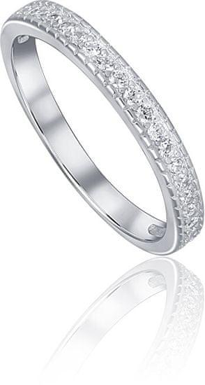 JVD Strieborný prsteň s kryštálmi SVLR0226XD5BI (Obvod 51 mm) striebro 925/1000