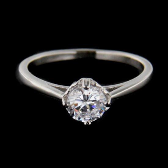 Amiatex Strieborný prsteň 62612 + Nadkolienky Gatta Calzino Strech, 55