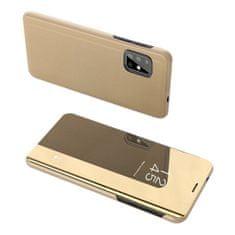 MG Clear View knižkové púzdro na Samsung Galaxy S20 Plus, zlaté