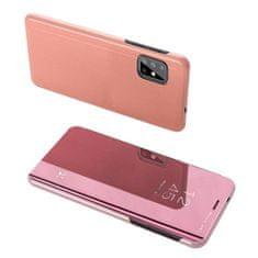 MG Clear View knižkové púzdro na Samsung Galaxy S20, ružové