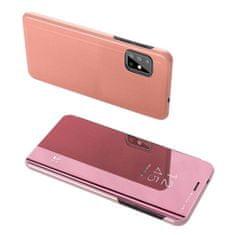 MG Clear View knižkové púzdro na Samsung Galaxy S20 Plus, ružové