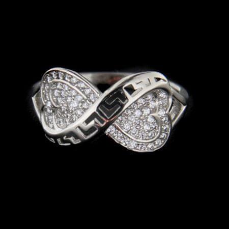 Amiatex Ezüst gyűrű 62690, 54