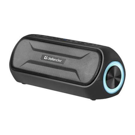Defender Enjoy S1000 prenosni brezžični zvočnik, LED, črn
