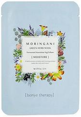 Beautyko Bonye Moringani zelená bylinková maska - balenie 10 kusov