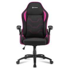 Sharkoon Elbrus 1 gamerski stol, črno-roza