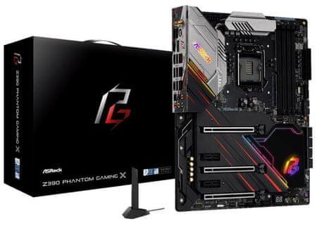 ASRock Z390 Phantom Gaming X, DDR4, USB 3.2 Gen2, WiFi, ATX osnovna plošča