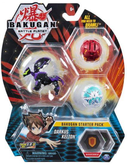 Bakugan Startovací sada 3 ks Darkus Kelion