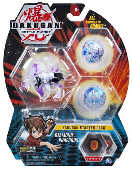 Bakugan Startovací sada 3 ks Diamond Phaedrus