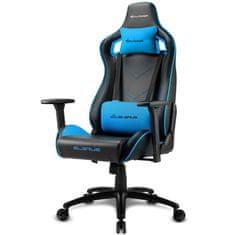 Sharkoon Elbrus 2 gamerski stol, črno-moder