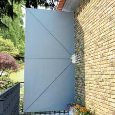 Skladacia bočná markíza na terasu, sivá 400x200 cm