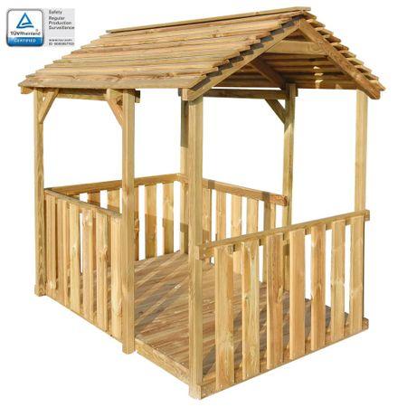 shumee Ogrodowy domek do zabawy, 122,5 x 160 x 163 cm, drewno sosnowe