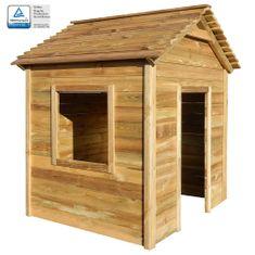 Ogrodowy domek do zabawy, 123x120x146 cm, drewno sosnowe FSC
