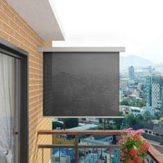 Bočná markíza na balkón, multifunkčná 150x200 cm, sivá