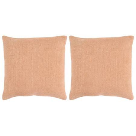 shumee Poduszki ręcznie wykonane, 2 szt., 45 x 45 cm, różowe