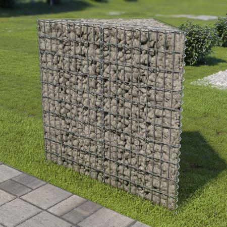 slomart Visoka greda gabion pocinkano jeklo 75x75x100 cm