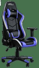 Bytezone Thunder gaming stol, LED osvetlitev, črno-moder