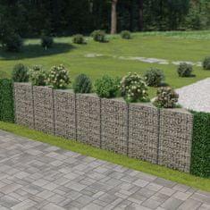 shumee Gabionová zeď z pozinkované oceli 450 x 30 x 100 cm