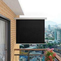 Bočná markíza na balkón, multifunkčná 150x200 cm, čierna