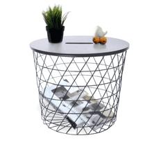 TEMPO KONDELA Príručný stolík, grafit/čierna, BATIS TYP 1