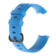 BStrap Fitbit Charge 3 Silicone Diamond (Large) řemínek, Blue