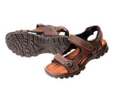 CRV Pánske kožené sandále Wulik hnedá 42
