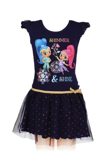 SETINO Dětské šaty Shimmer and Shine - černá - 104 / 3–4 let