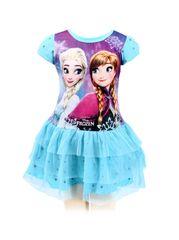 SETINO Dětské šaty Frozen - tyrkysová