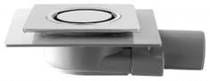 Omp Tea TIRANA podlahová vpust boční 150x150 mm, odpad 50mm, chrom (2665.695.8)