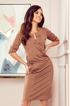 Numoco Női ruha 161-15 AGATA, világos barna, M