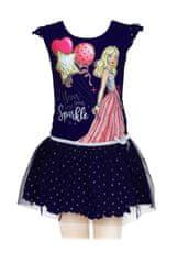 SETINO Detské šaty Barbie - tmavo modrá