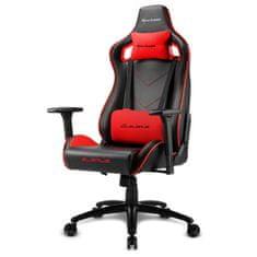 Sharkoon Elbrus 2 gamerski stol, črno-rdeč