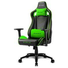 Sharkoon Elbrus 2 gamerski stol, črno-zelen