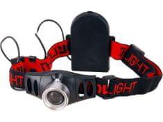 Extol Light Čelovka 3W CREE XPE s regulací, svítivost 120lm, dosvit 100m, funkce ZOOM, 2módy světla