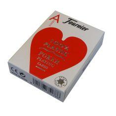 Fournier Pokrové karty Jumbo 100% plastové, červené