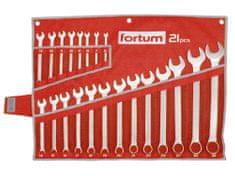 Fortum Kľúče očko-vidlicové, sada 21ks, 6-32mm