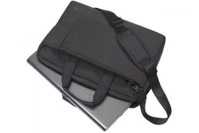 Sodobna torba za prenosnik Rivacase 8231 torba z dimenzijami 39,6 cm/15,6'' 8231-B elegantna gladka zasnova narejena iz trpežne tkanine, prostorne oblazinjene notranje stene sprednjim žepom za mobilni telefon dvojno zadrgo in enostaven dostop do naramnic nizka teža