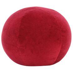 Puf, aksamit bawełniany, 50 x 35 cm, czerwony
