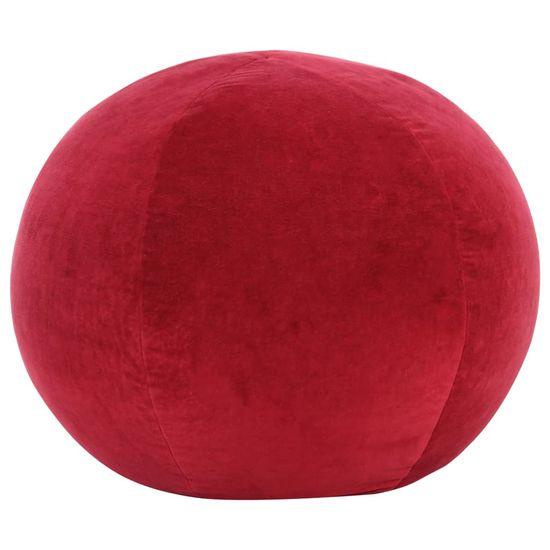 Taburetka bavlnená zamatová 50x35 cm červená