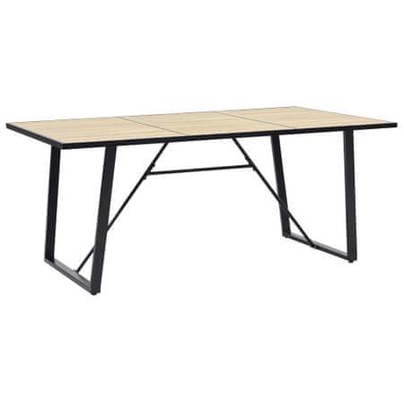 shumee tölgyszínű MDF étkezőasztal 200 x 100 x 75 cm
