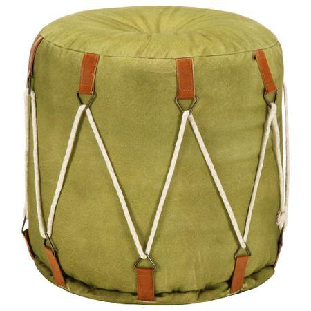 Puf zielony, 40x40 cm, płótno bawełniane
