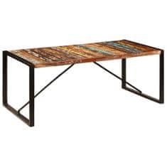 shumee Jídelní stůl 200 x 100 x 75 cm masivní recyklované dřevo