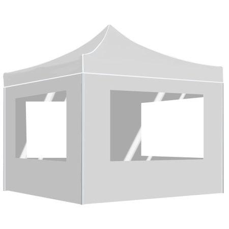 shumee fehér összecsukható rendezvénysátor falakkal 3 x 3 m