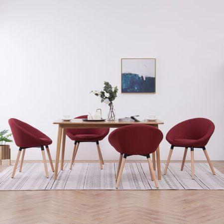 shumee Jedilni stoli 4 kosi vinsko rdeče blago