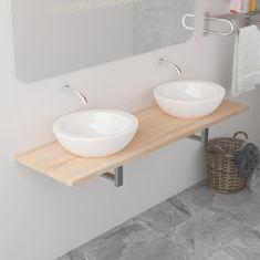 shumee Koupelnový nábytek dub 160 x 40 x 16,3 cm