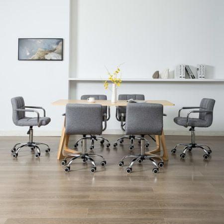 shumee Vrtljivi jedilni stoli 6 kosov svetlo sivo blago
