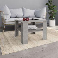 shumee Konferenční stolek betonově šedý 60 x 60 x 42 cm dřevotříska