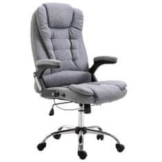 Kancelárske kreslo, sivé, polyester