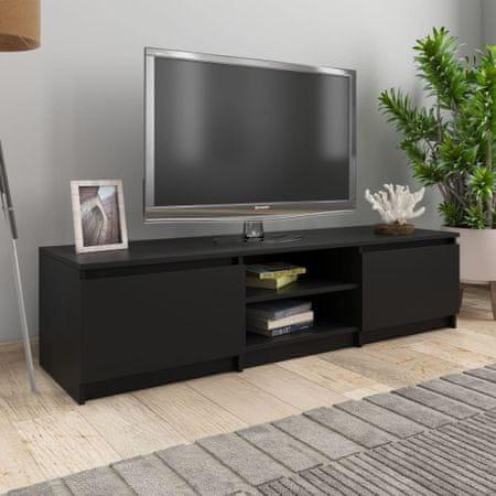 shumee TV omarica črna 140x40x35,5 cm iverna plošča
